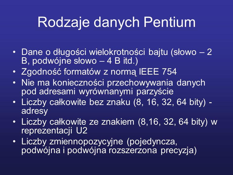 Rodzaje danych Pentium