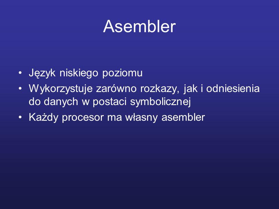 Asembler Język niskiego poziomu