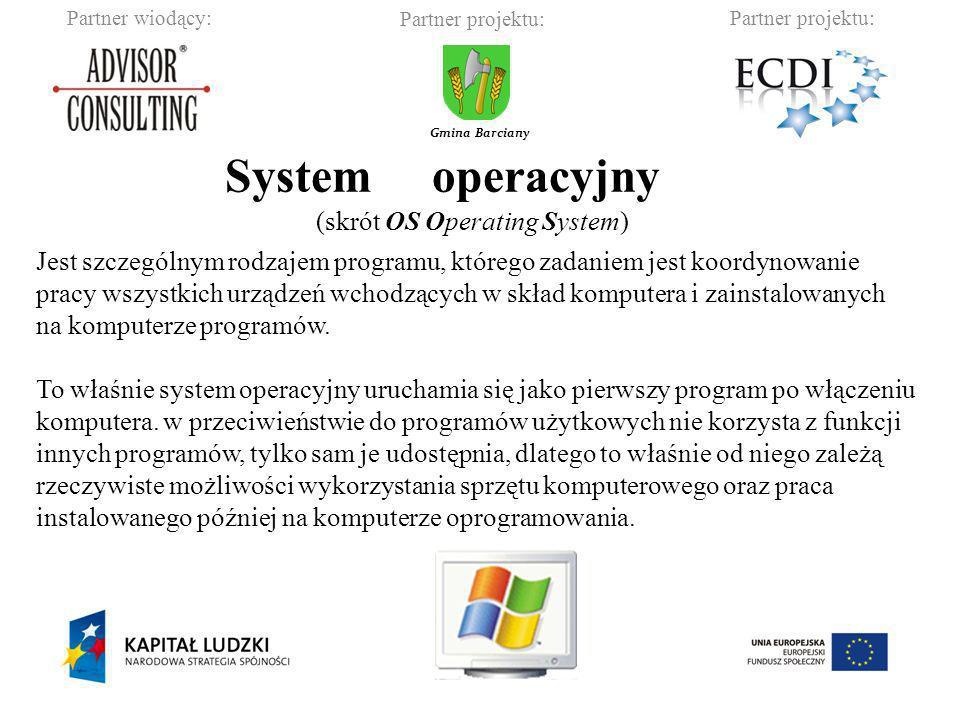 System operacyjny (skrót OS Operating System)