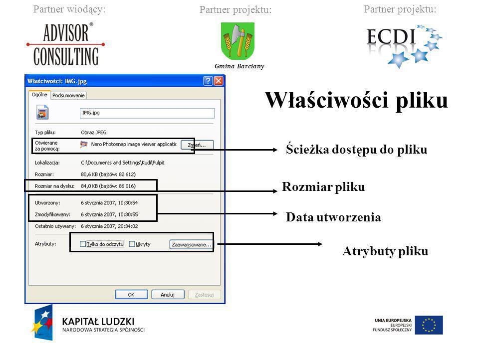 Właściwości pliku Ścieżka dostępu do pliku Rozmiar pliku