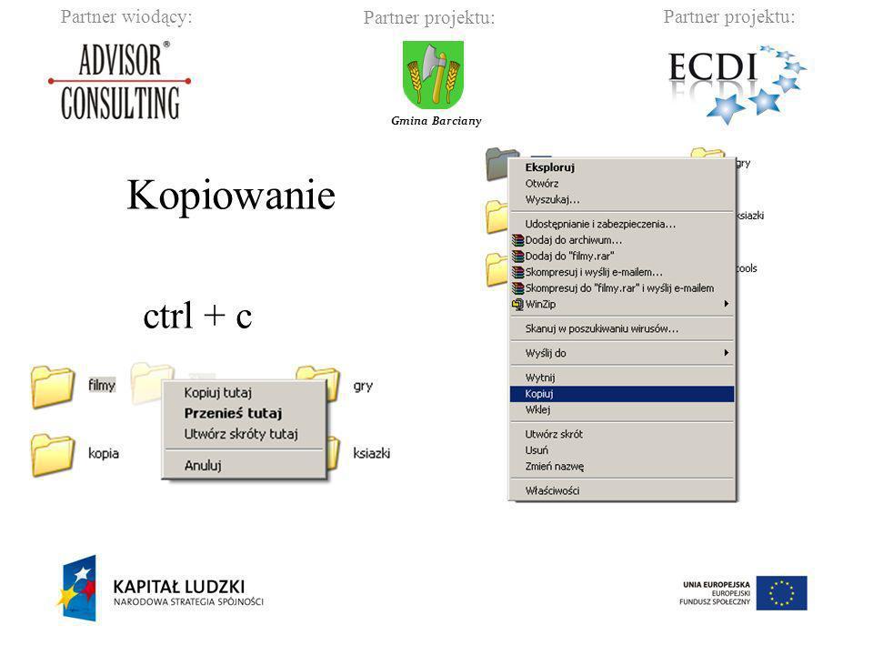 Kopiowanie ctrl + c