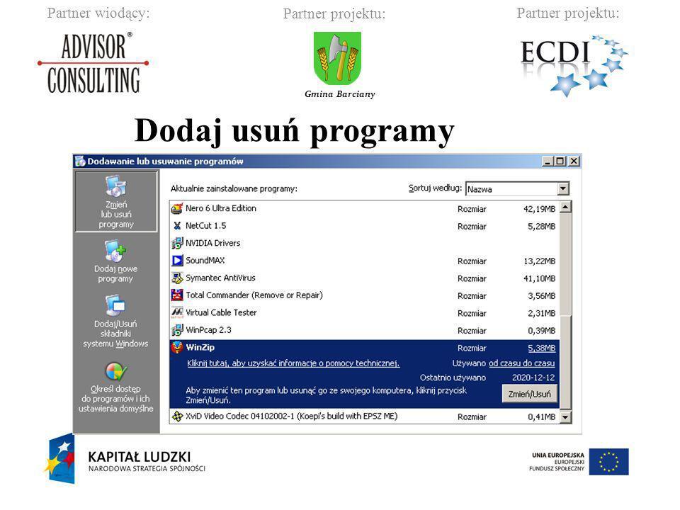 Dodaj usuń programy