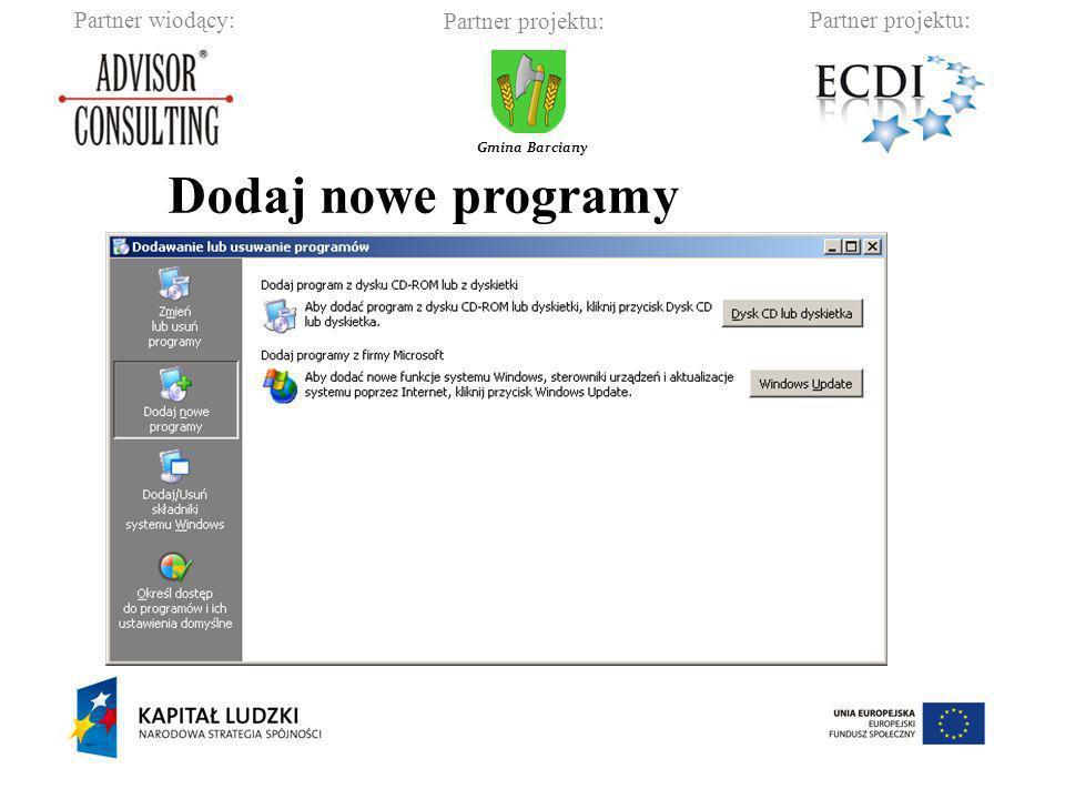 Dodaj nowe programy