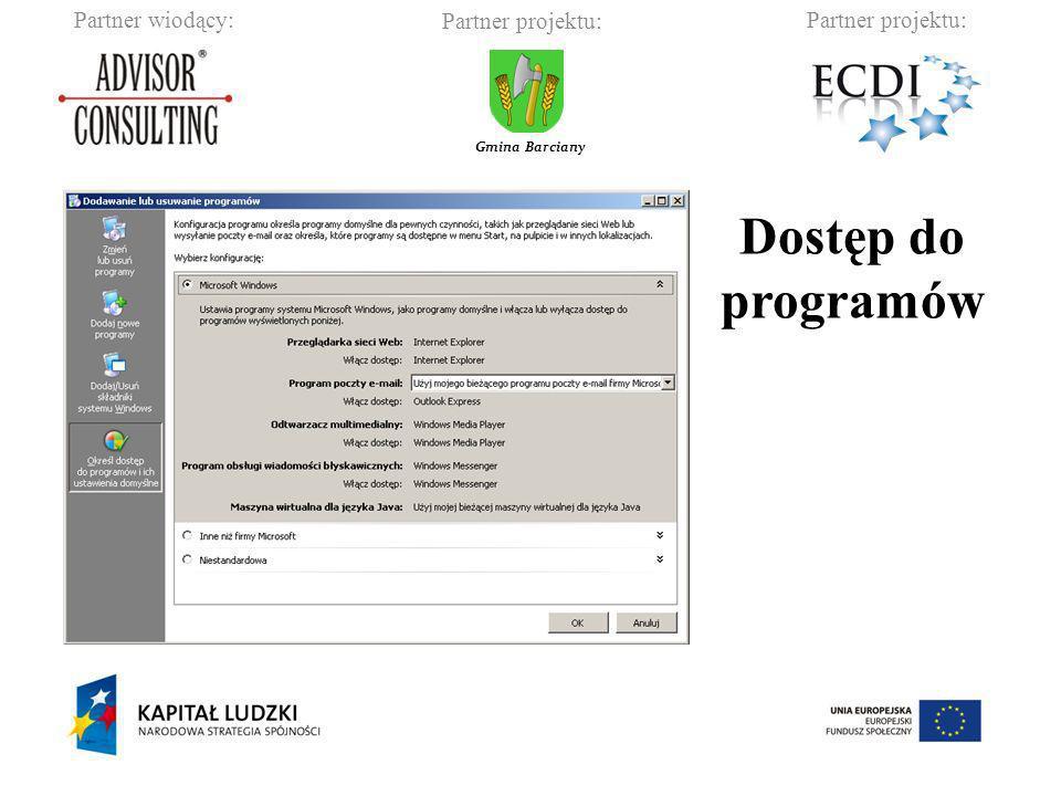 Dostęp do programów
