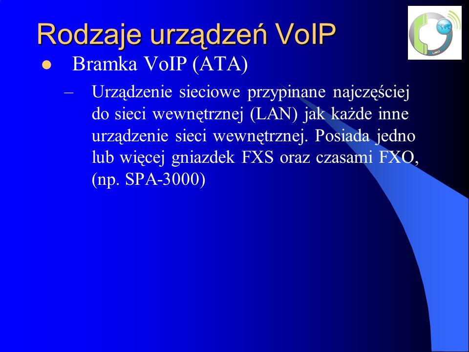 Rodzaje urządzeń VoIP Bramka VoIP (ATA)