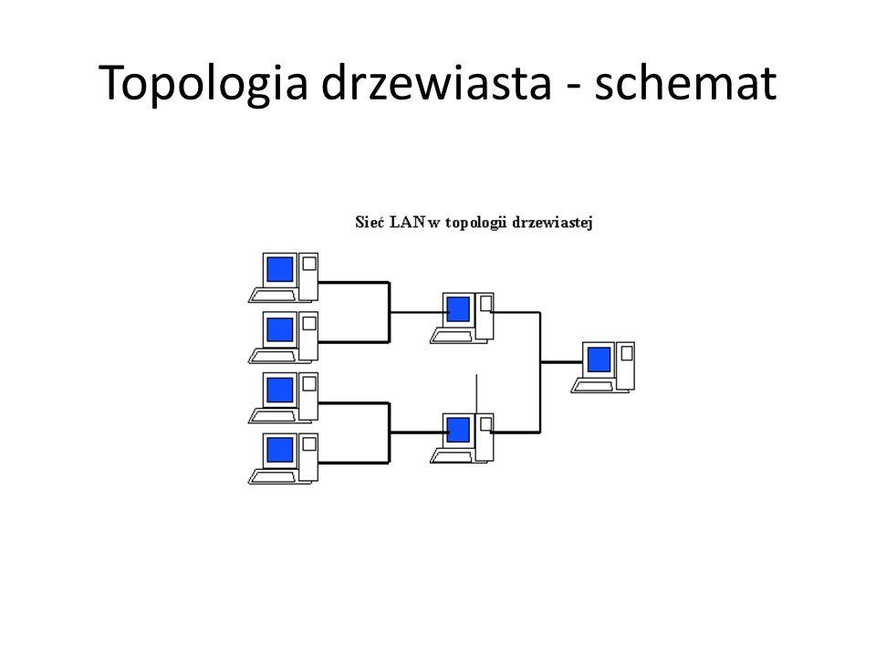 Topologia drzewiasta - schemat