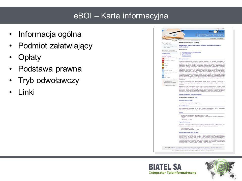 eBOI – Karta informacyjna
