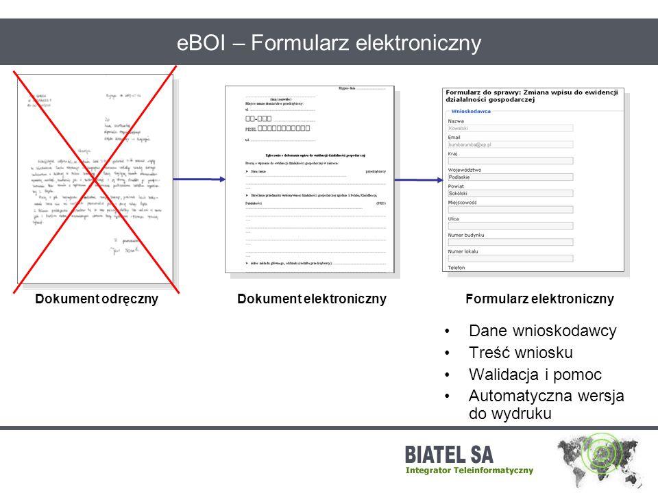 eBOI – Formularz elektroniczny