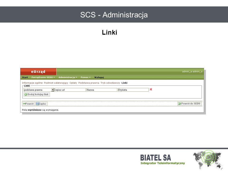 SCS - Administracja Linki