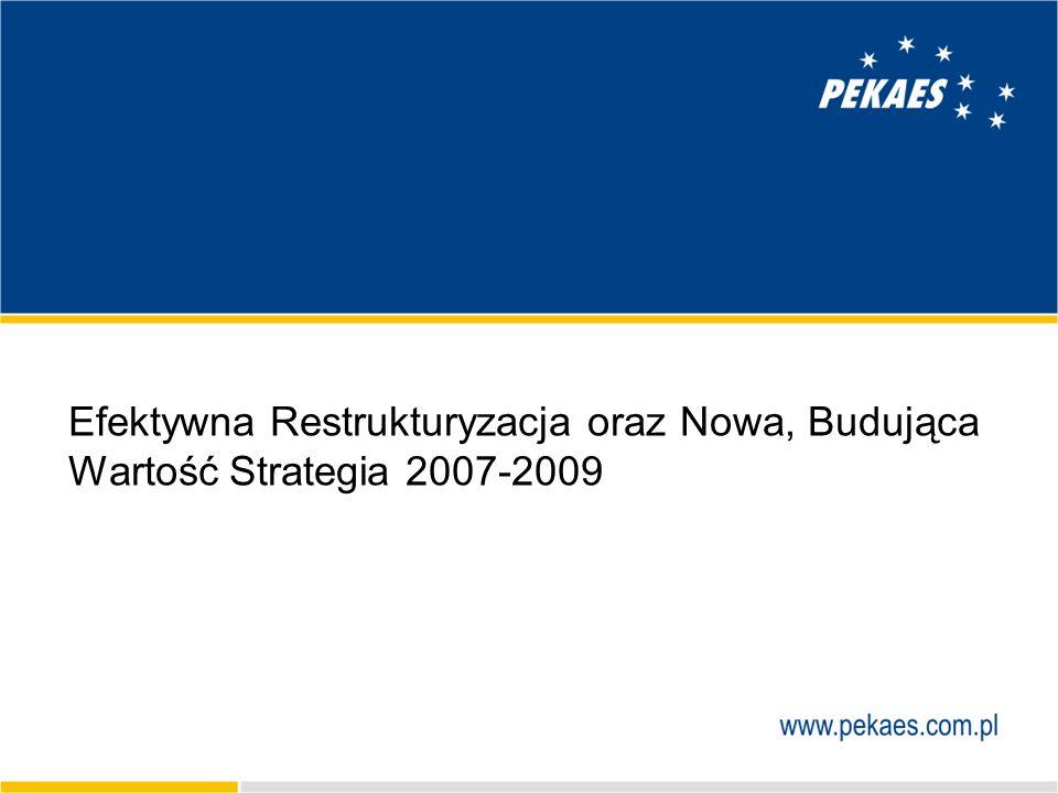 Efektywna Restrukturyzacja oraz Nowa, Budująca Wartość Strategia 2007-2009