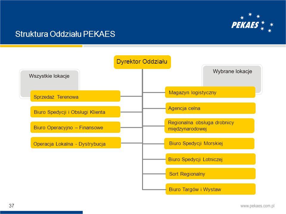 Struktura Oddziału PEKAES
