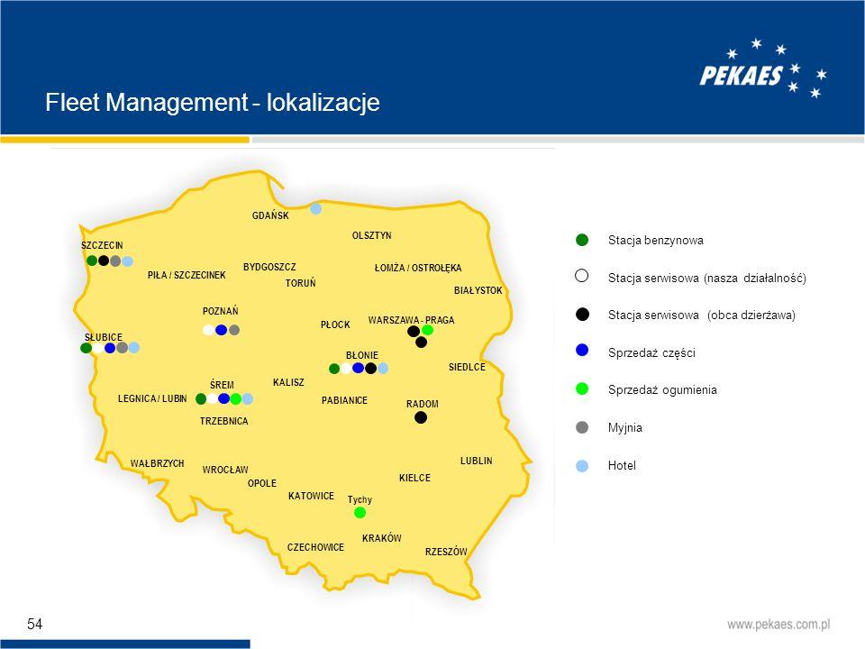 Fleet Management - lokalizacje