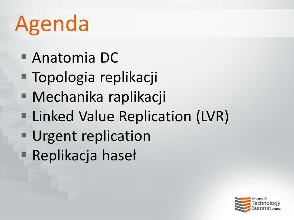 Agenda Anatomia DC Topologia replikacji Mechanika raplikacji