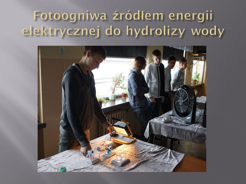 Fotoogniwa źródłem energii elektrycznej do hydrolizy wody