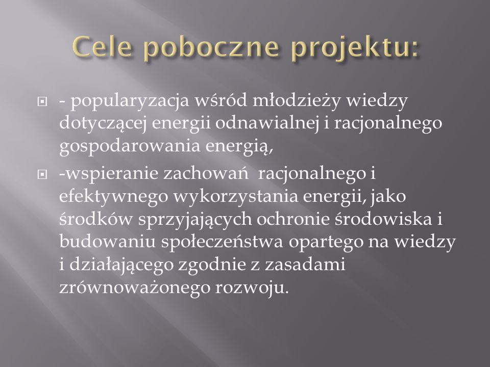 Cele poboczne projektu: