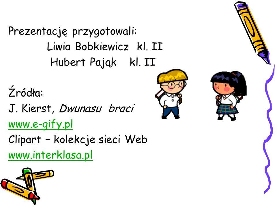 Prezentację przygotowali: Liwia Bobkiewicz kl. II Hubert Pająk kl