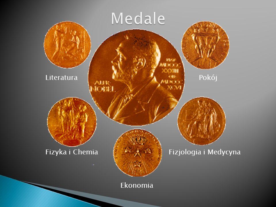 Medale Literatura Pokój. Fizyka i Chemia Fizjologia i Medycyna.