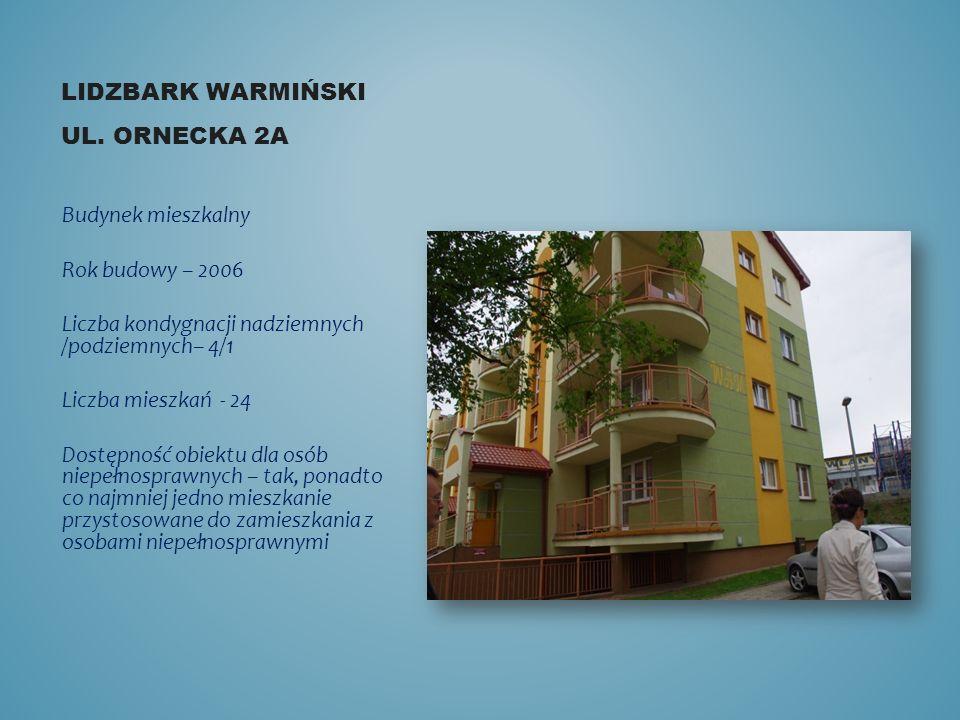 Lidzbark warmiński ul. Ornecka 2a