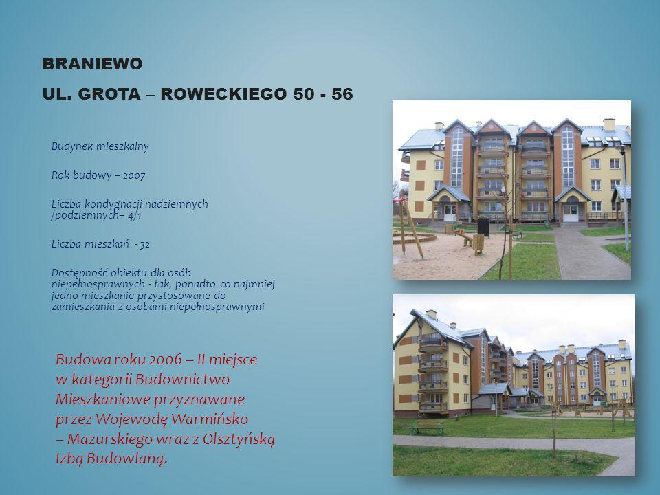 Braniewo ul. Grota – roweckiego 50 - 56