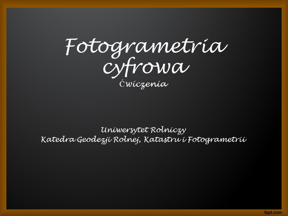 Fotogrametria cyfrowa