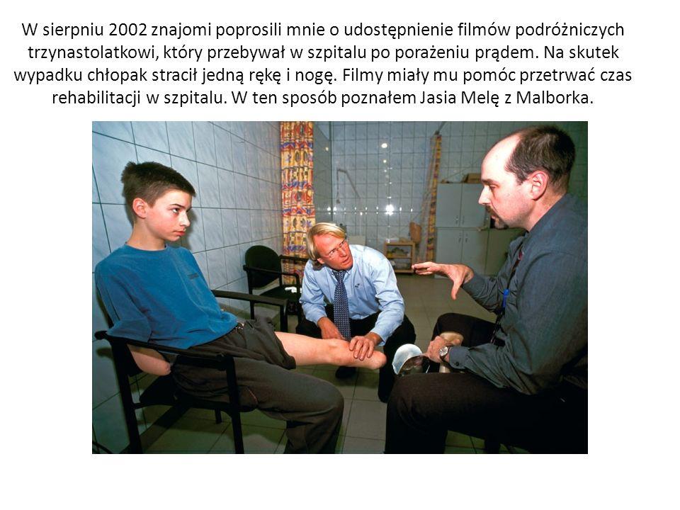 W sierpniu 2002 znajomi poprosili mnie o udostępnienie filmów podróżniczych trzynastolatkowi, który przebywał w szpitalu po porażeniu prądem.