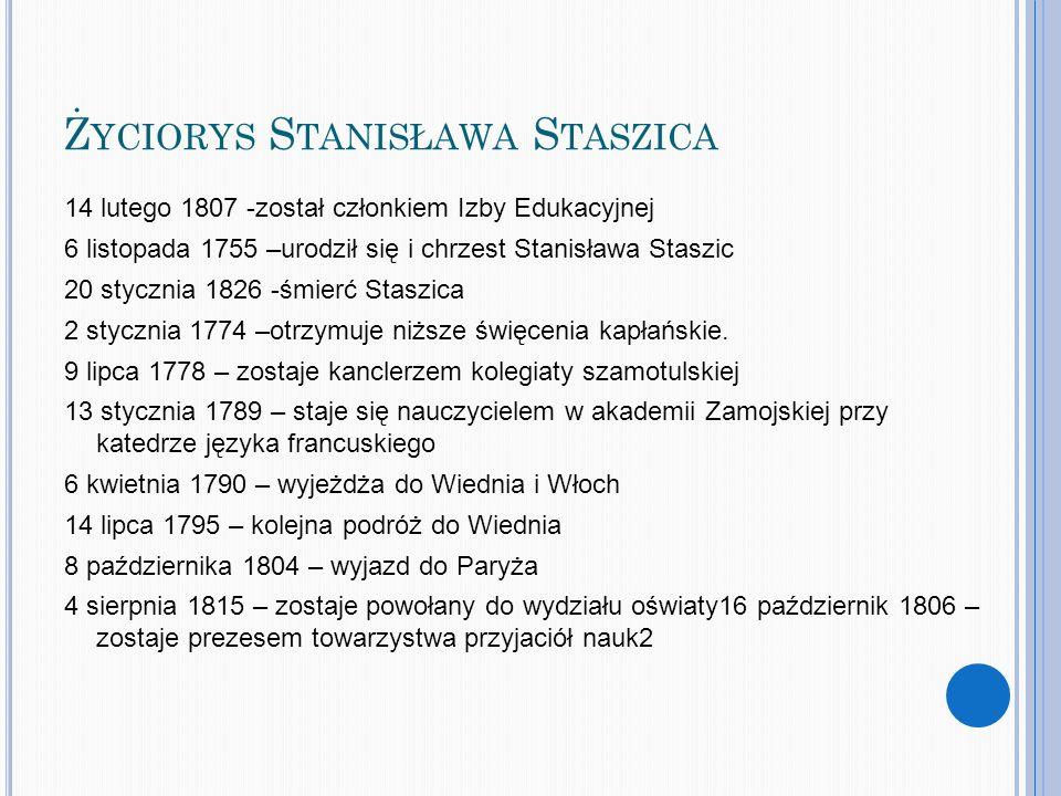 Życiorys Stanisława Staszica