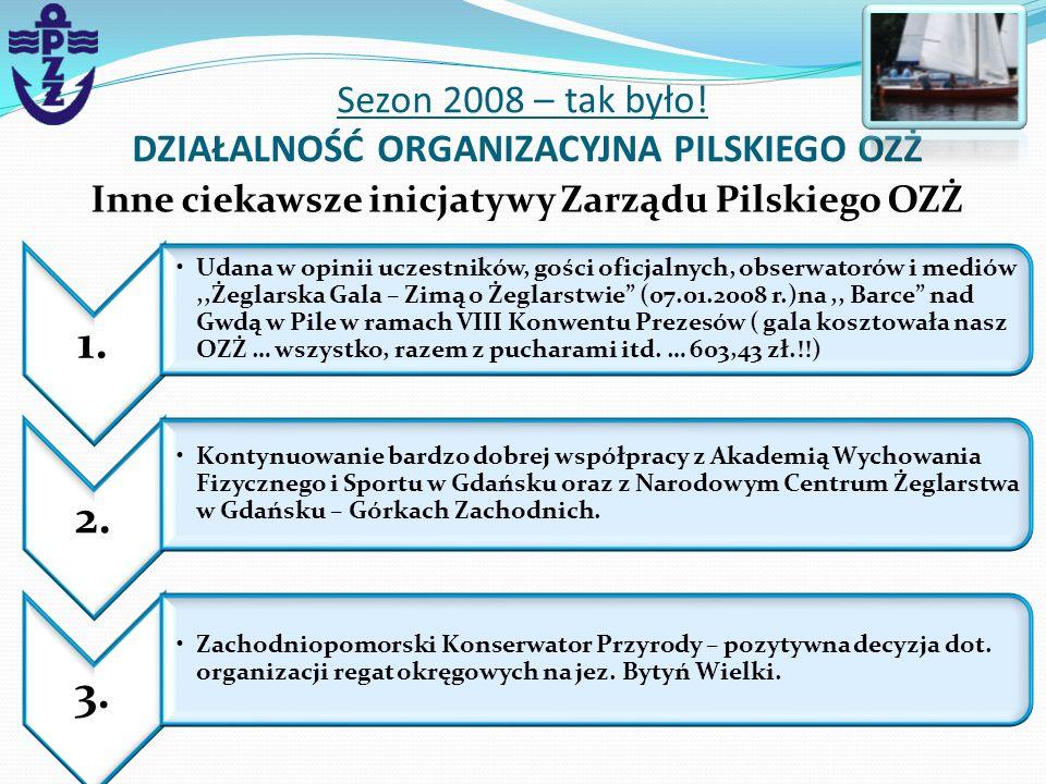 Sezon 2008 – tak było! DZIAŁALNOŚĆ ORGANIZACYJNA PILSKIEGO OZŻ