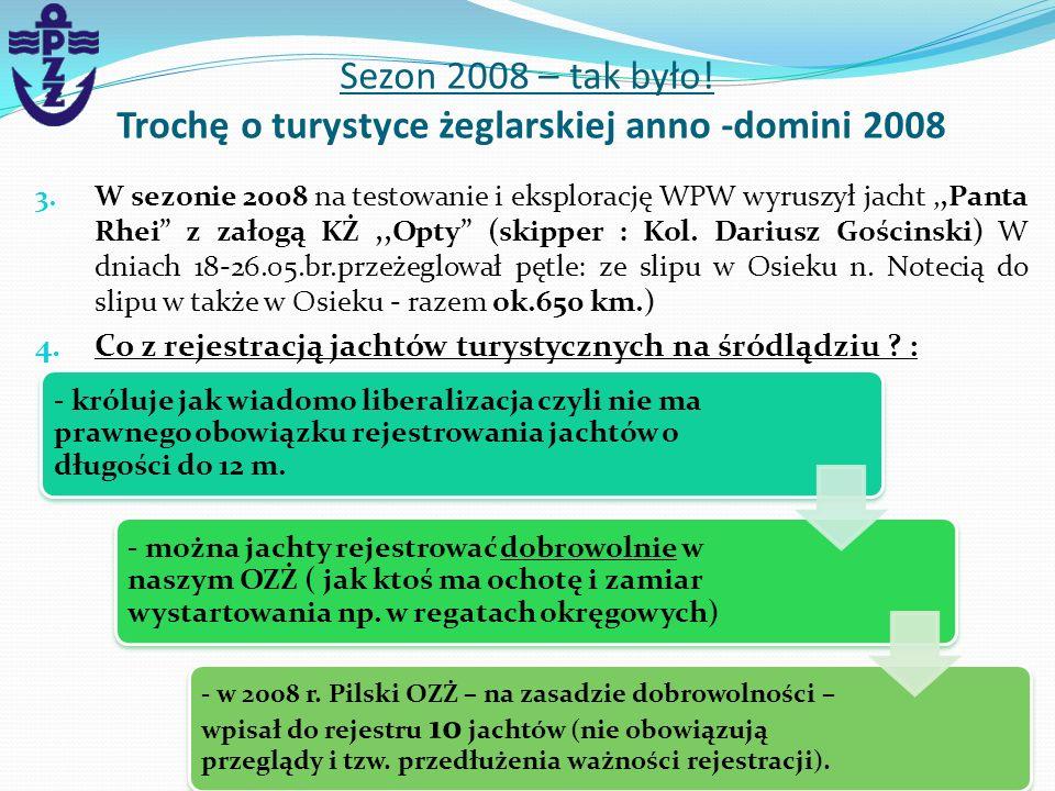 Sezon 2008 – tak było! Trochę o turystyce żeglarskiej anno -domini 2008