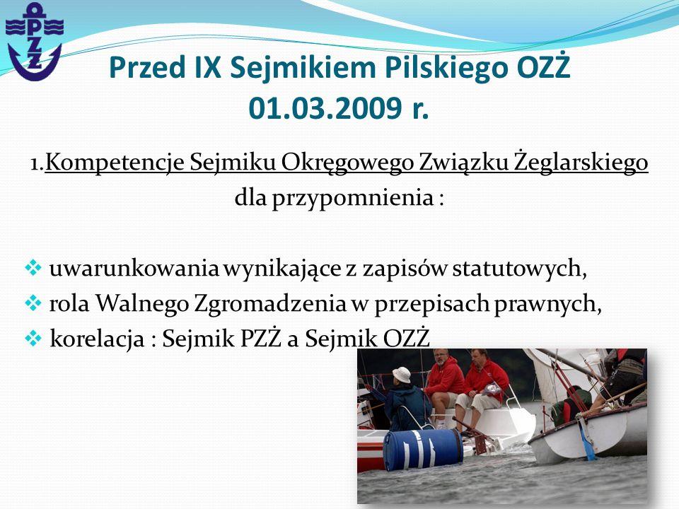 Przed IX Sejmikiem Pilskiego OZŻ 01.03.2009 r.