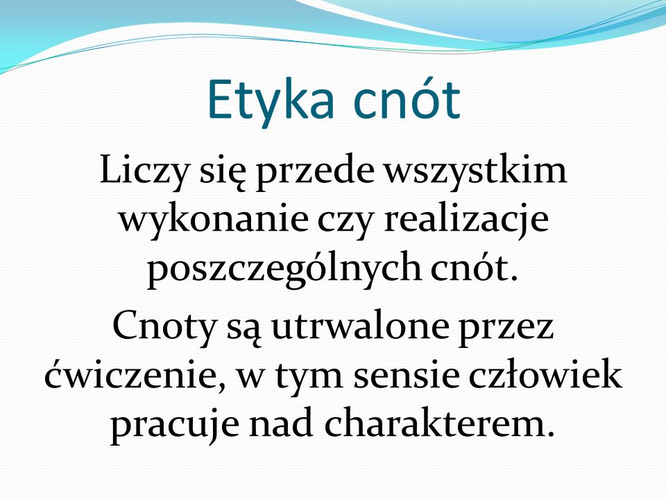 Etyka cnót