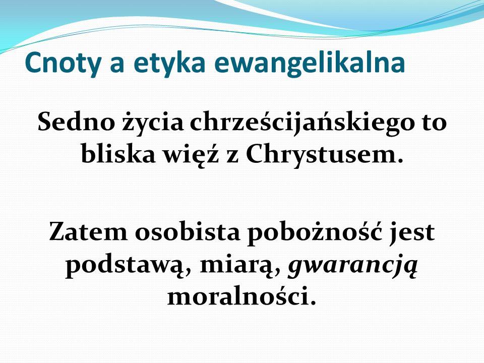 Cnoty a etyka ewangelikalna