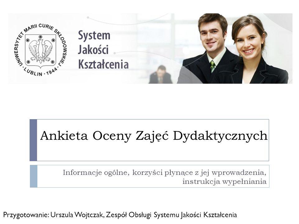 Ankieta Oceny Zajęć Dydaktycznych