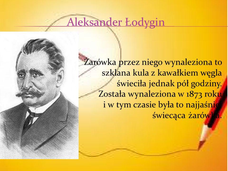 Aleksander Łodygin szklana kula z kawałkiem węgla
