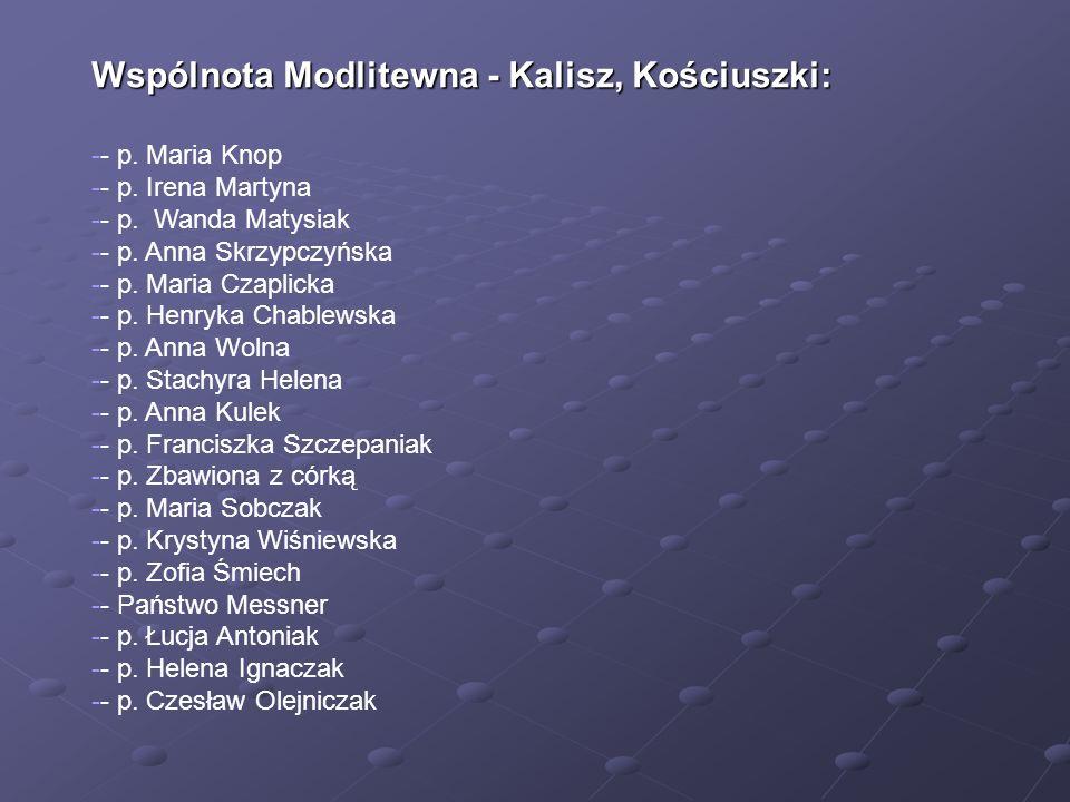 Wspólnota Modlitewna - Kalisz, Kościuszki: