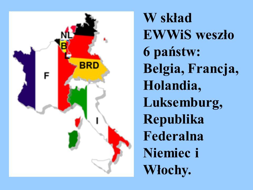 W skład EWWiS weszło 6 państw: Belgia, Francja, Holandia, Luksemburg, Republika Federalna Niemiec i Włochy.