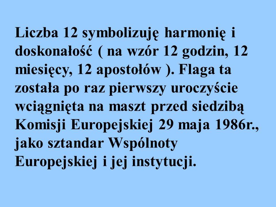 Liczba 12 symbolizuję harmonię i doskonałość ( na wzór 12 godzin, 12 miesięcy, 12 apostołów ).