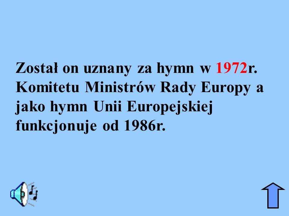 Został on uznany za hymn w 1972r