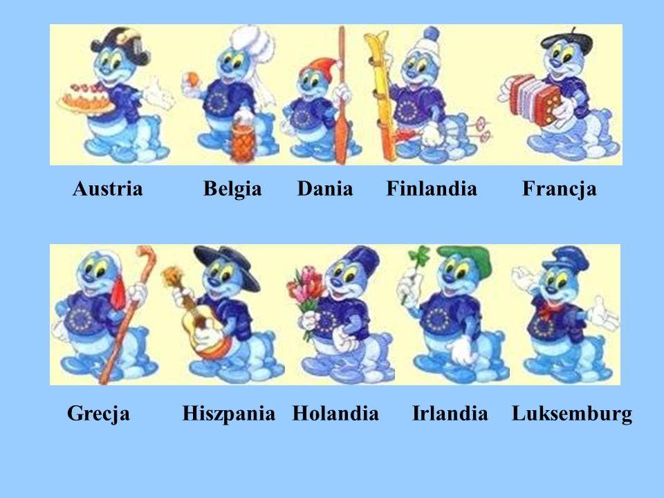 Austria Belgia Dania Finlandia Francja Grecja Hiszpania Holandia Irlandia Luksemburg