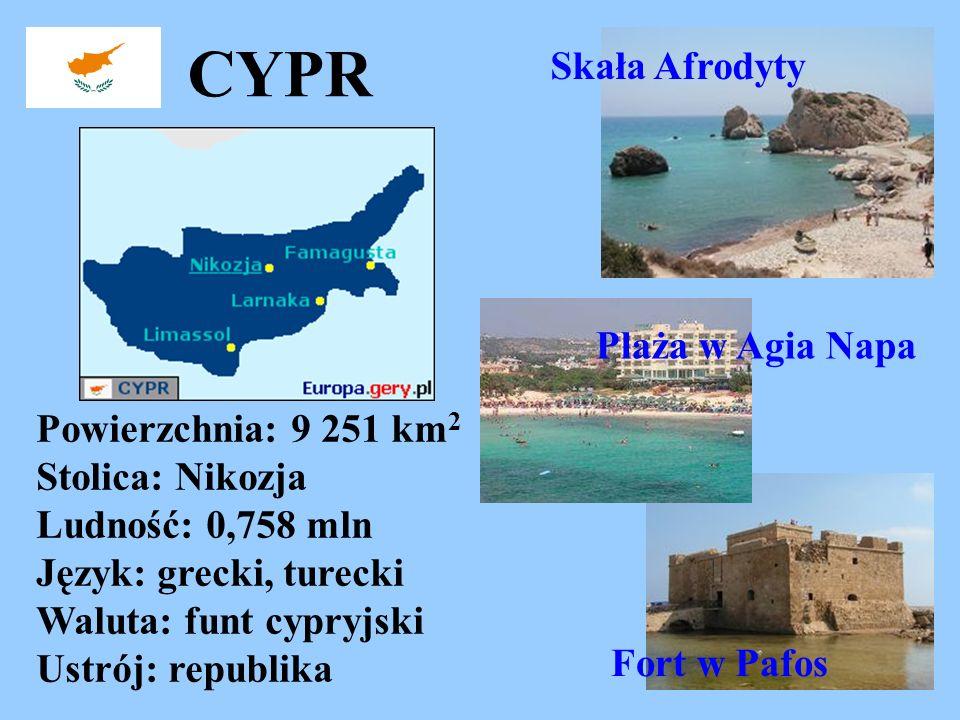 CYPR Skała Afrodyty Plaża w Agia Napa
