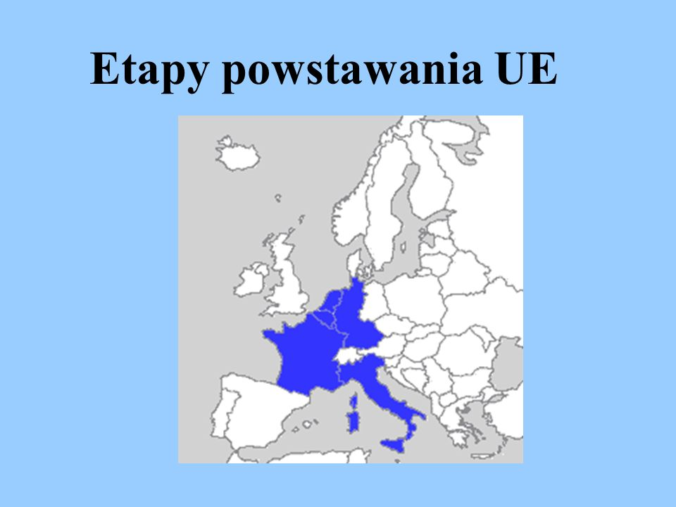 Etapy powstawania UE