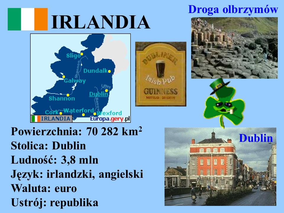 IRLANDIA Droga olbrzymów