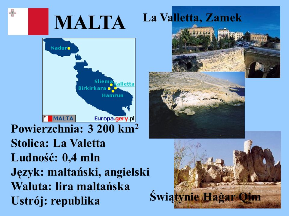 MALTA La Valletta, Zamek