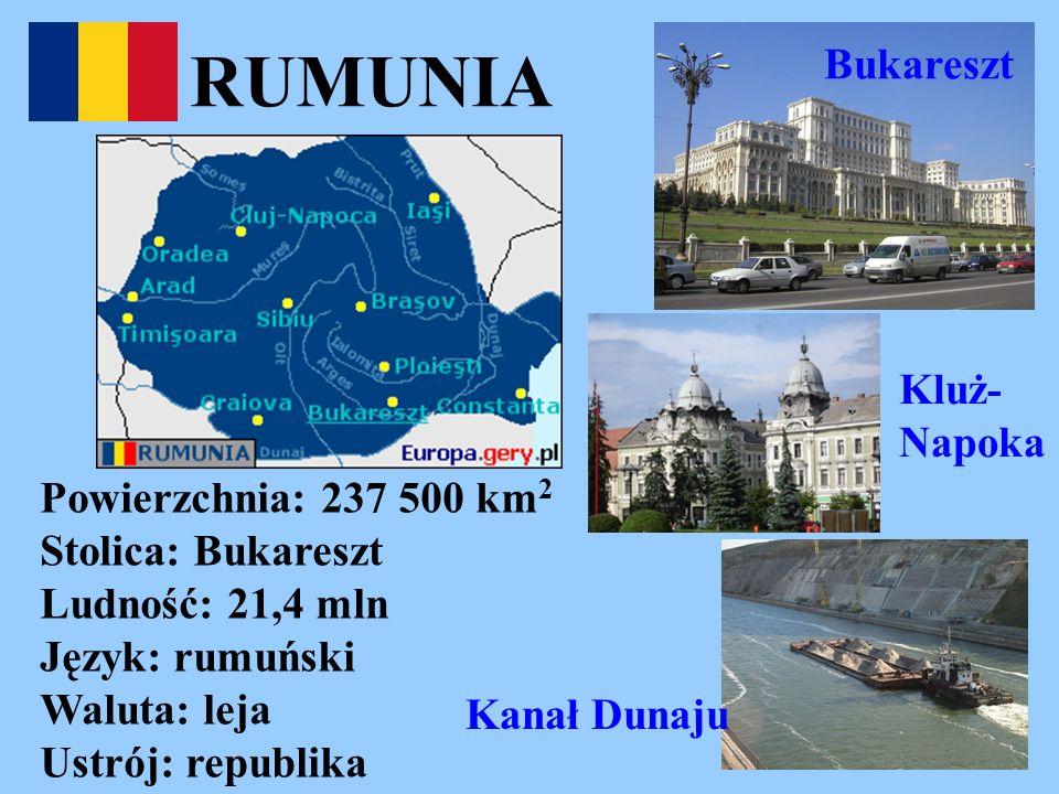 RUMUNIA Bukareszt Kluż-Napoka