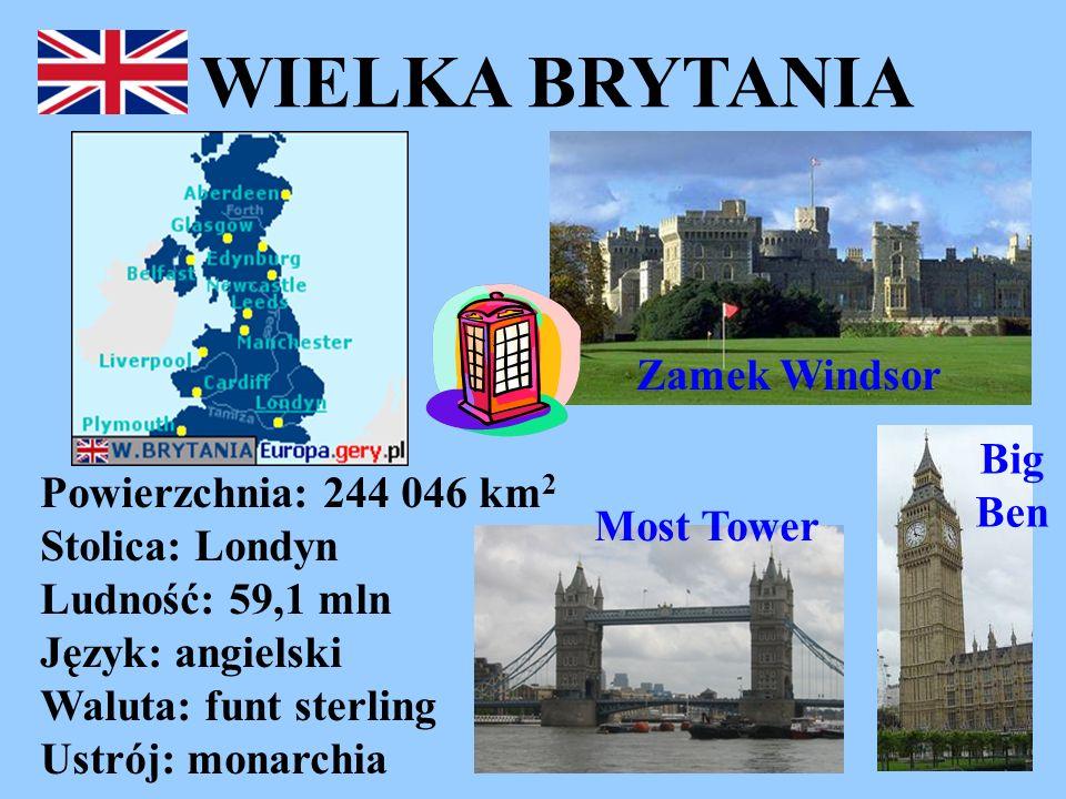 WIELKA BRYTANIA Zamek Windsor Big Ben