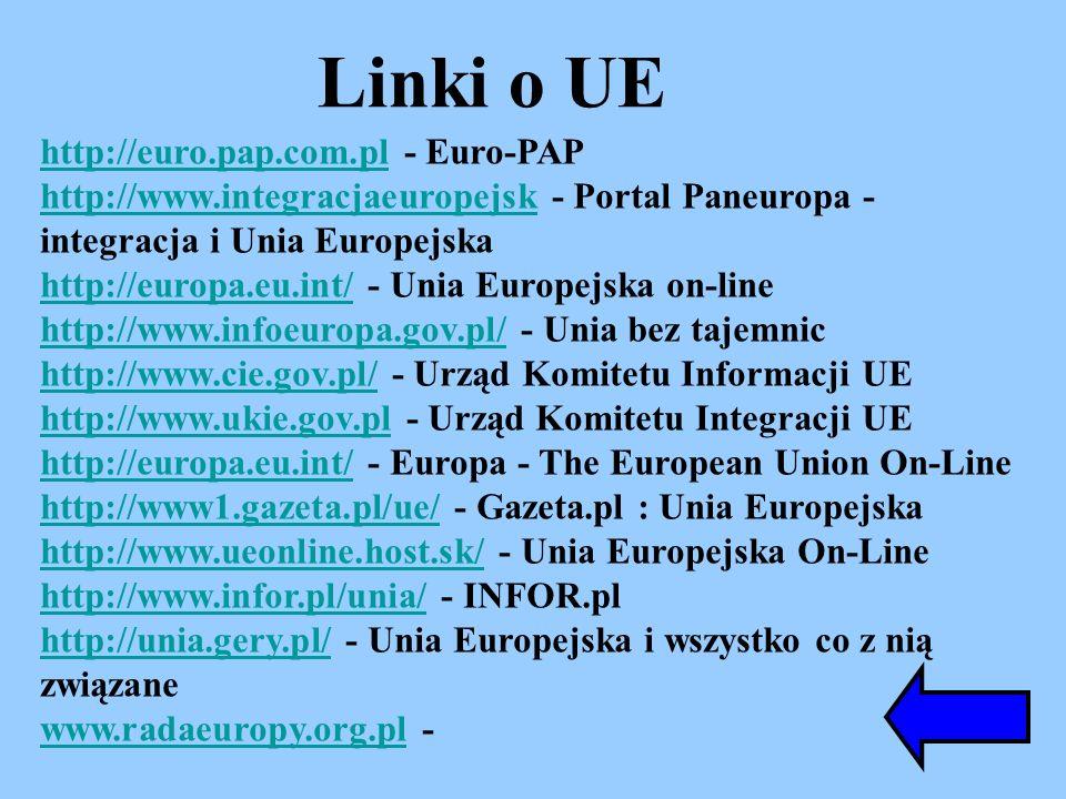 Linki o UE http://euro.pap.com.pl - Euro-PAP