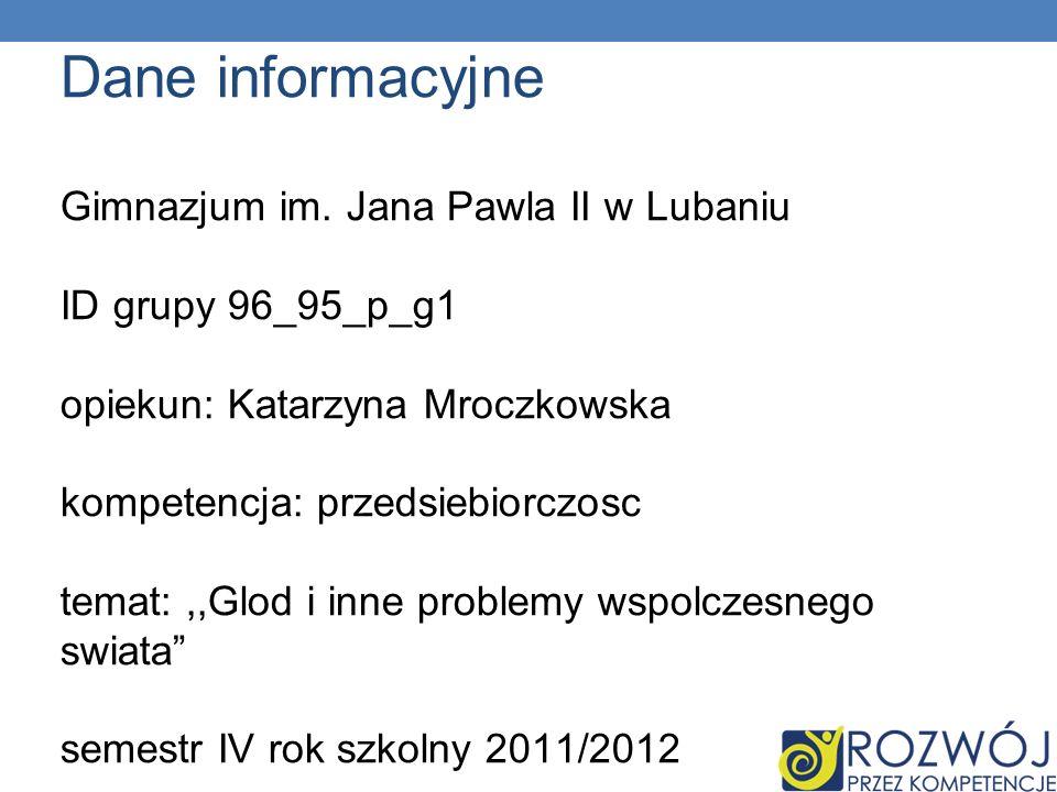 Dane informacyjne Gimnazjum im