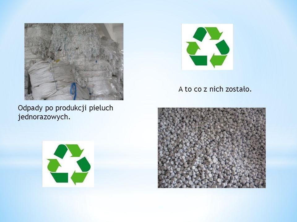 A to co z nich zostało. Odpady po produkcji pieluch jednorazowych.