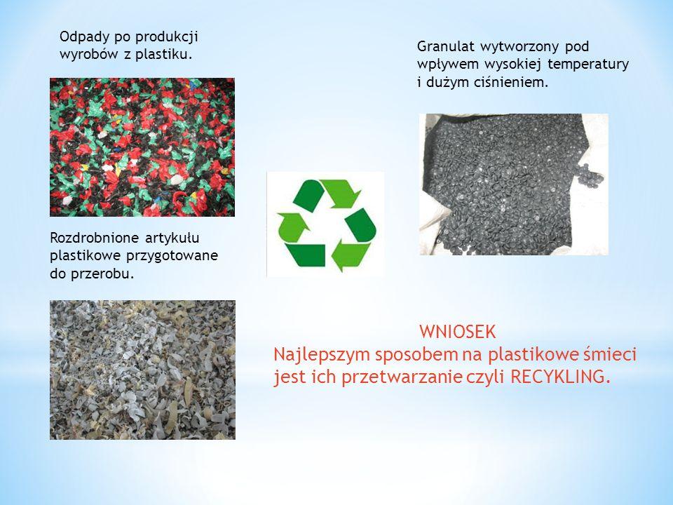 Odpady po produkcji wyrobów z plastiku.