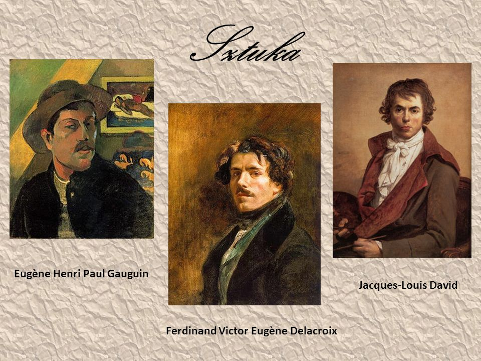 Sztuka Eugène Henri Paul Gauguin Jacques-Louis David
