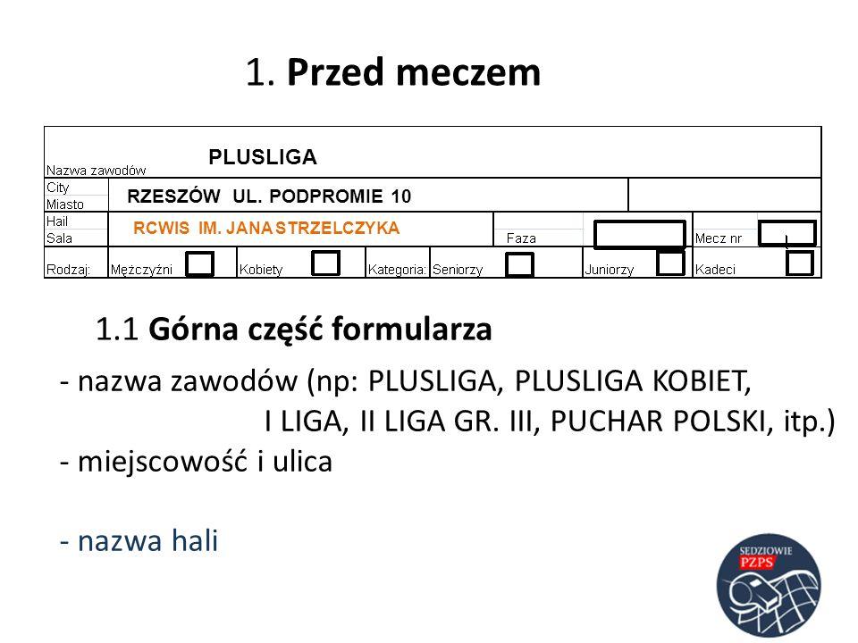 1.1 Górna część formularza